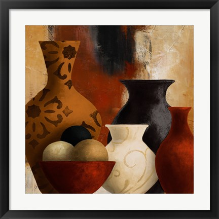 Framed Spiced Vessels II Print