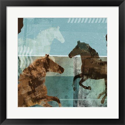 Framed Around the Stable II Print
