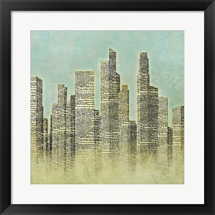Framed City I Print