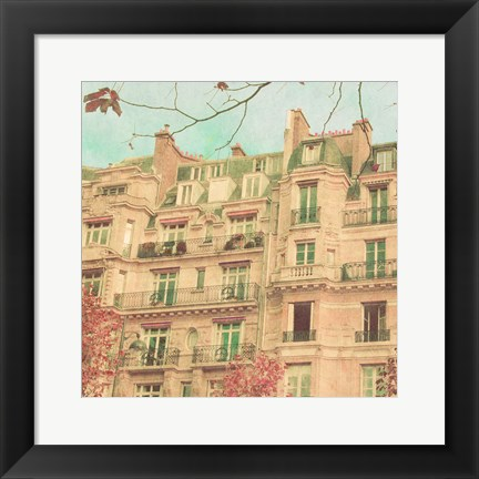 Framed April in Paris II Print