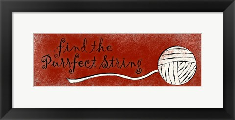 Framed Purrfect String Print
