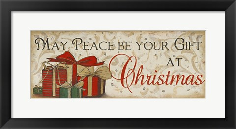 Framed Peace at Christmas Print