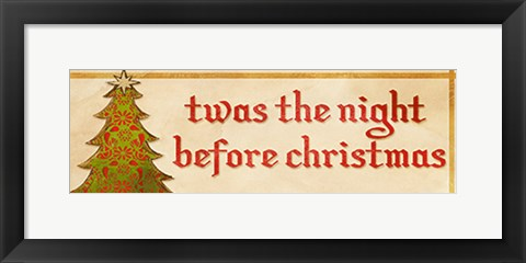 Framed Twas the Night Print