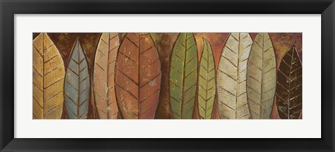 Framed Tall Leaves II Print