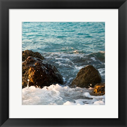 Framed On the Rocks II Print