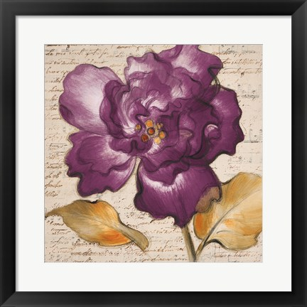 Framed Lilac Beauty I Print
