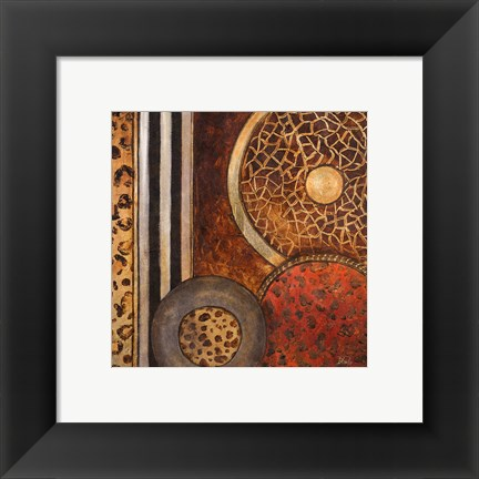 Framed African Circles I Print