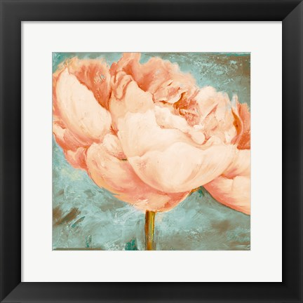Framed Beautiful Peonies Square II Print