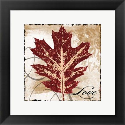 Framed Love Leaf Print
