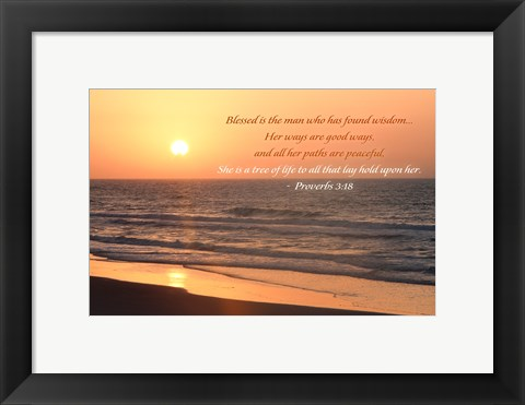 Framed Sunrise I Print