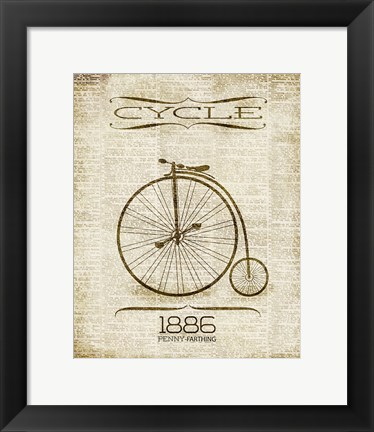Framed Cycle 1886 Print