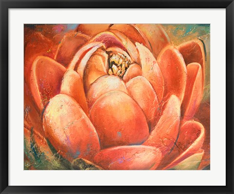Framed Red Lotus II Print