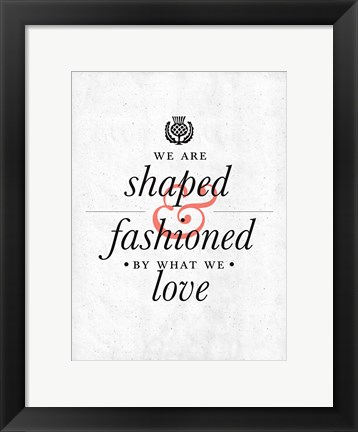 Framed Fashioned Print