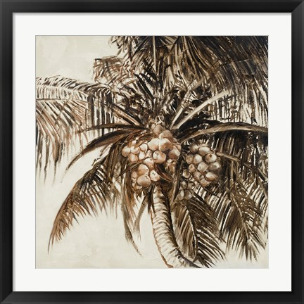 Framed Coconut Palm I Print