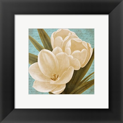 Framed Blue Morning Tulips I Print