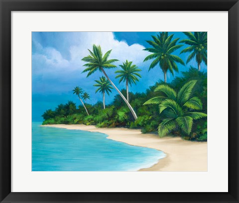 Framed Palm Beach II Print