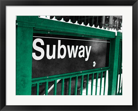 Framed Subway Print