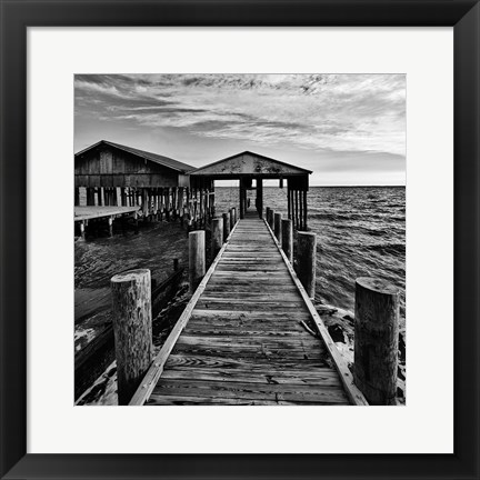 Framed Boathouse Print