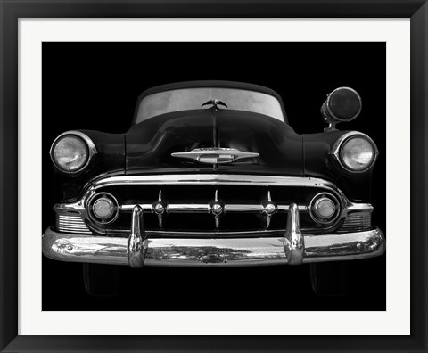 Framed Black and White Classic Ride Print