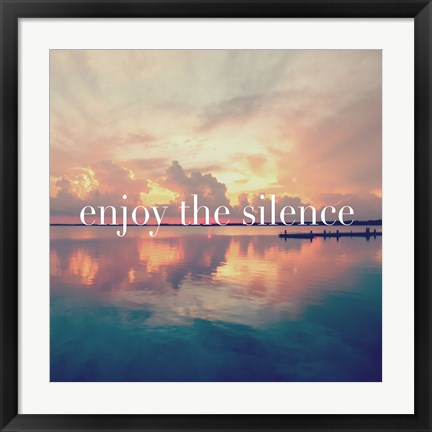Framed Enjoy the Silence Print
