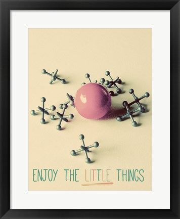 Framed Enjoy the Little Things Print