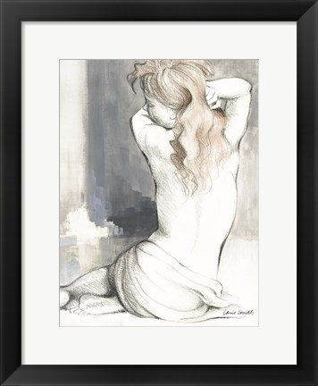 Framed Sketched Waking Woman I Print