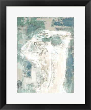 Framed Figure on Abstract I Print