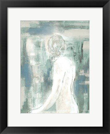 Framed Figure on Abstract II Print