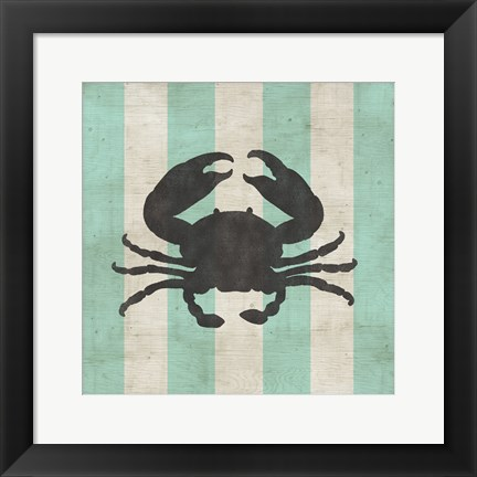 Framed Striped Coastal I Print