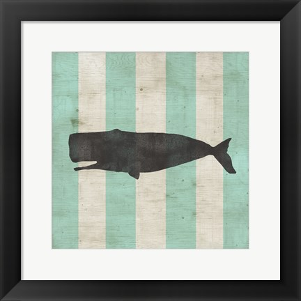 Framed Striped Coastal IV Print