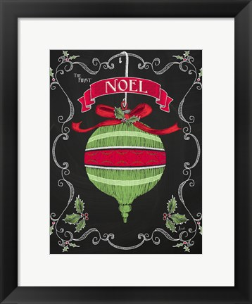 Framed Noel Chalk Art II Print