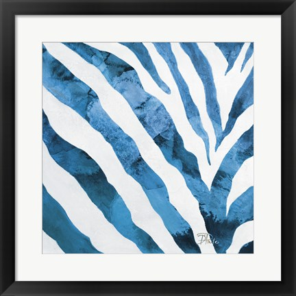 Framed Watercolor Zebra I Print