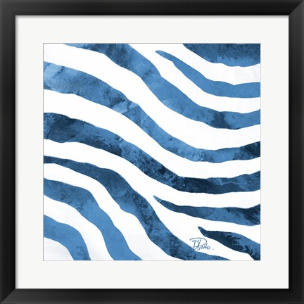 Framed Watercolor Zebra II Print