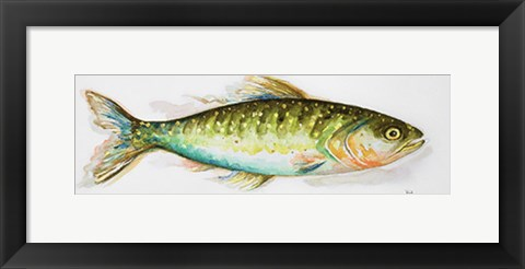 Framed Watercolor Fish II Print