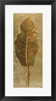 Framed Arte Verde on Gold I Print