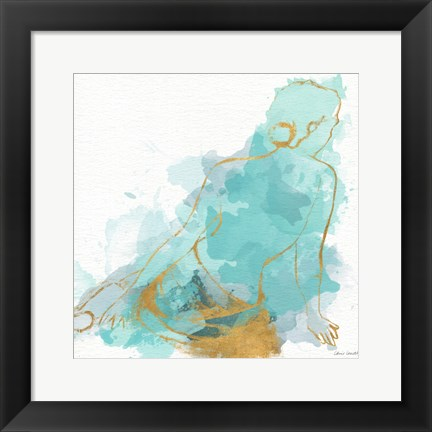 Framed Seated Watercolor Woman I Print
