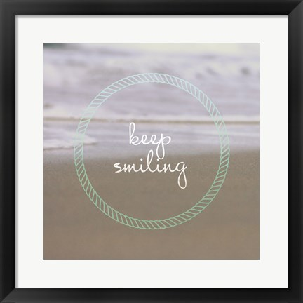 Framed Keep Smiling Print