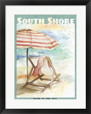 Framed Shore Poster I Print