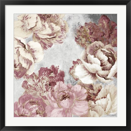Framed Florals in Pink and Cream Print