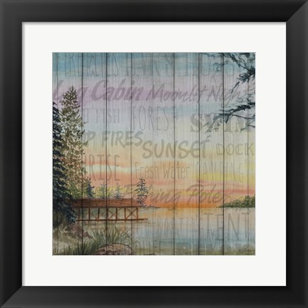 Framed Into the Woods Words II Print