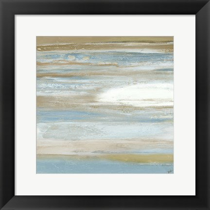 Framed Teal Sunrise II Print