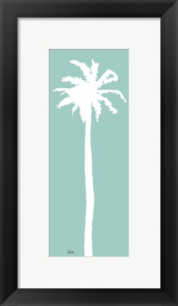 Framed Teal Palm II Print