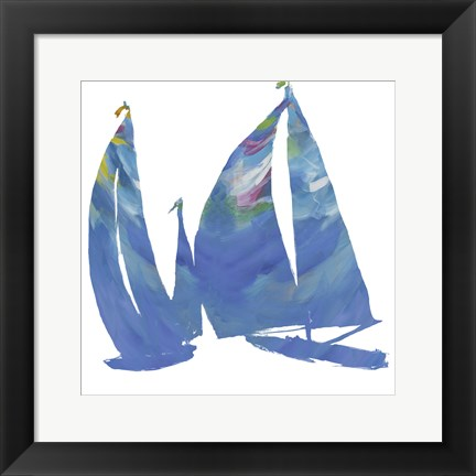 Framed Set Sail on White I Print