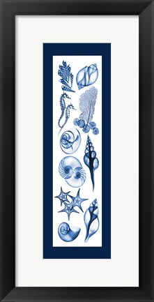Framed Sealife Blue Print