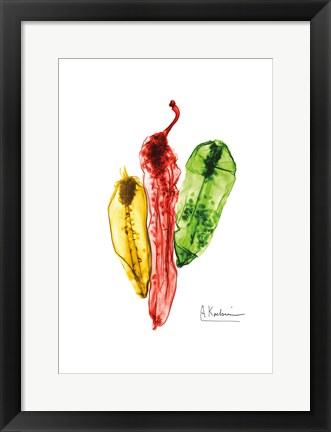 Framed Peppers Picante Print