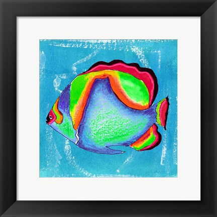 Framed Beach Front Butterfly Fish Print