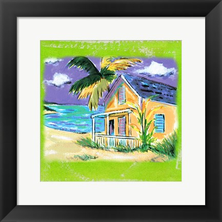 Framed Beach-Front Cottage Print