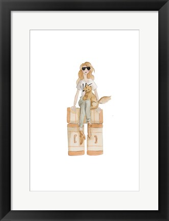 Framed LA Travel illo Print