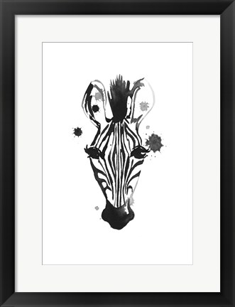 Framed Zebra Splash Print