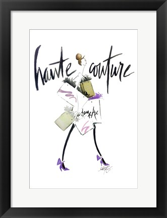 Framed Haute Couture Purple Print